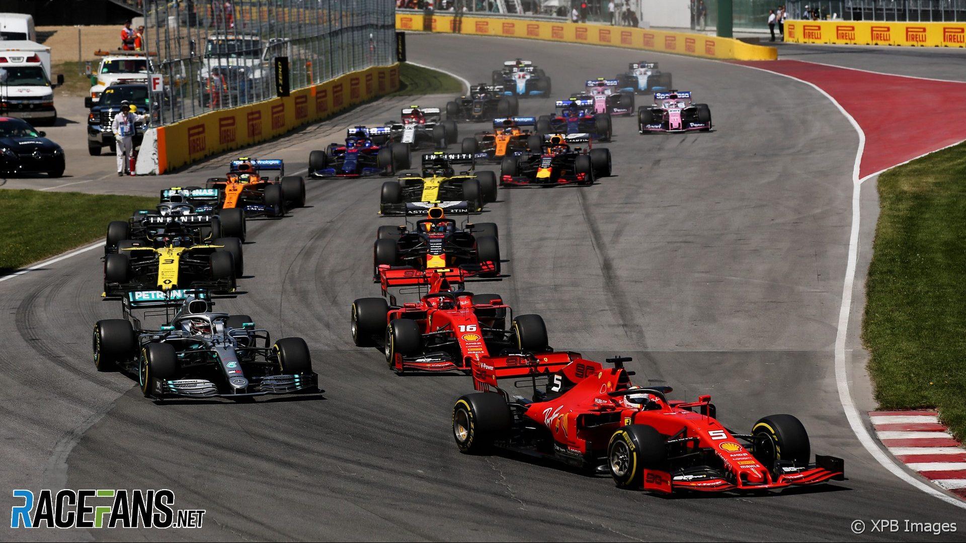 Salida, Circuito Gilles Villeneuve, 2019