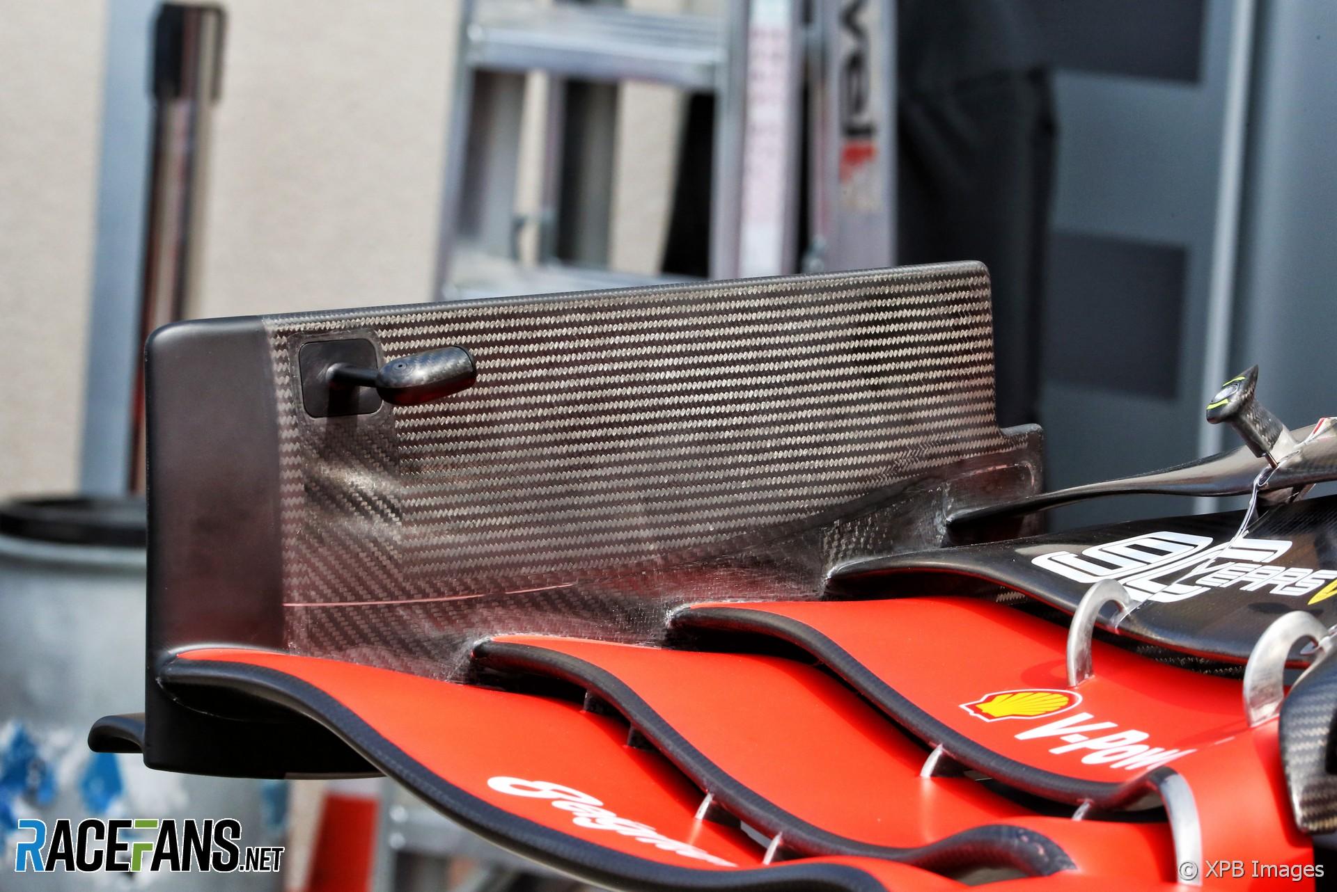 Ferrari front wing, Paul Ricard, 2019