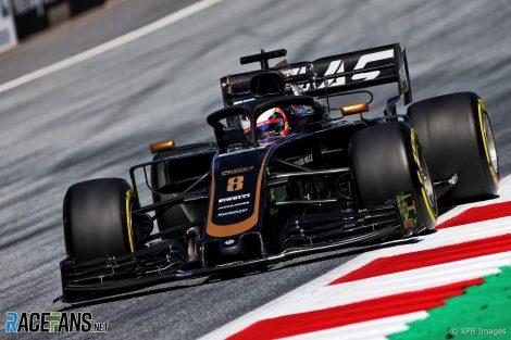 Romain Grosjean, Haas, Red Bull Ring, 2019