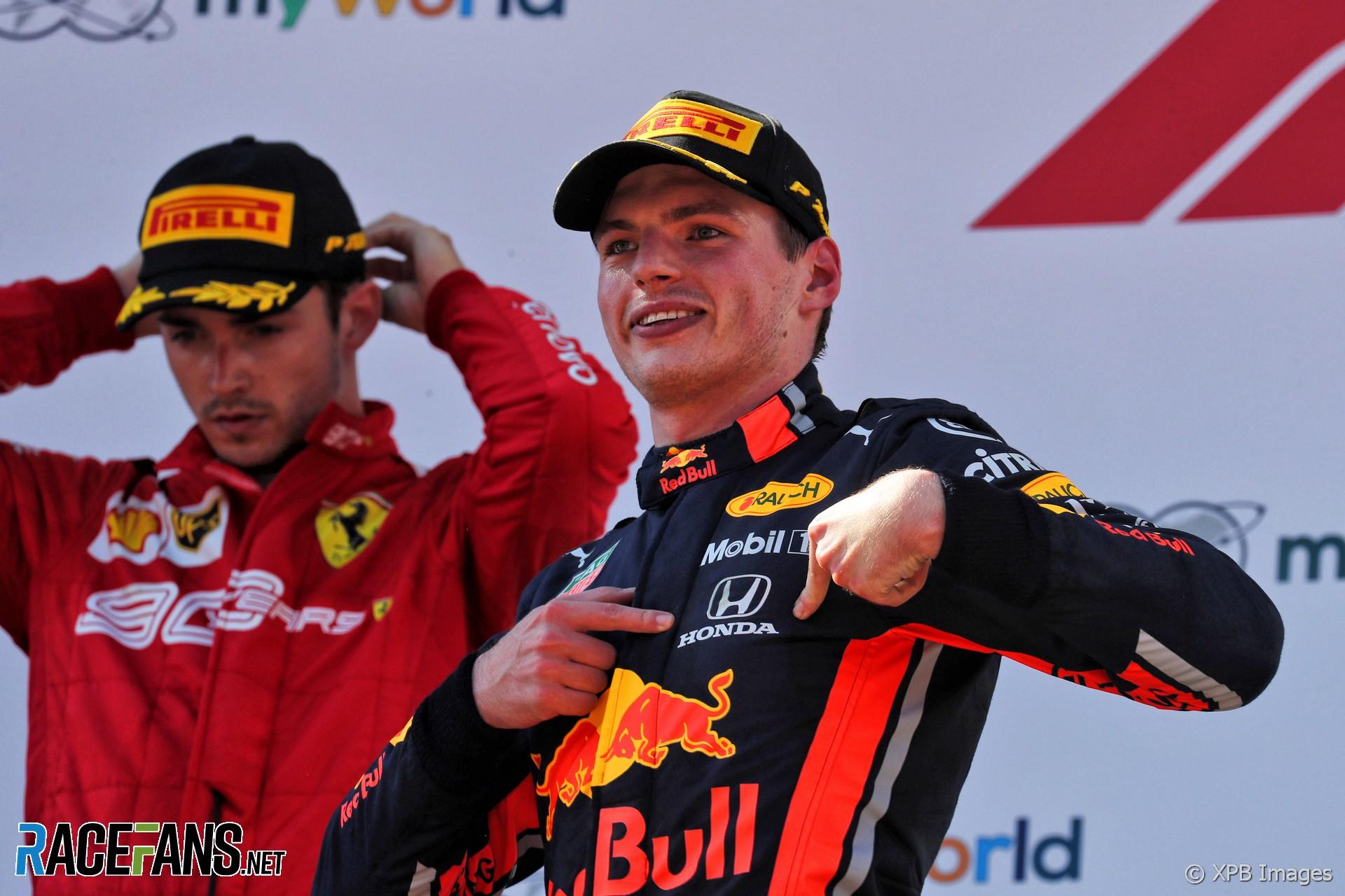 Max Verstappen, Charles Leclerc, Red Bull Ring, 2019