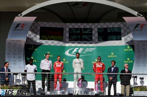 Sebastian Vettel, Lewis Hamilton, Kimi Raikkonen, Circuit of the Americas, 2017