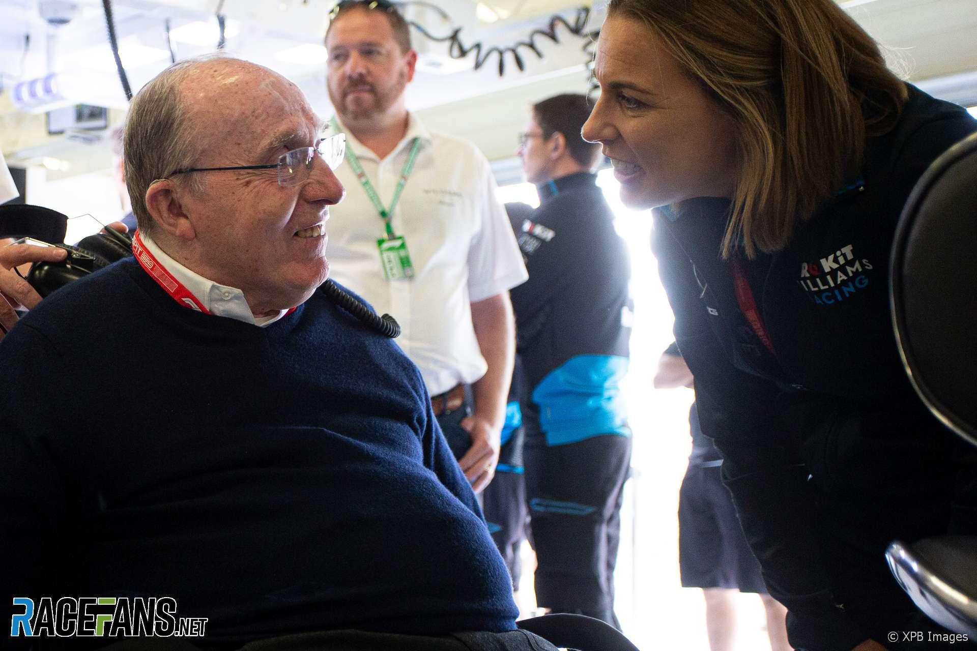 Frank Williams, Claire Williams, Williams, Silverstone, 2019
