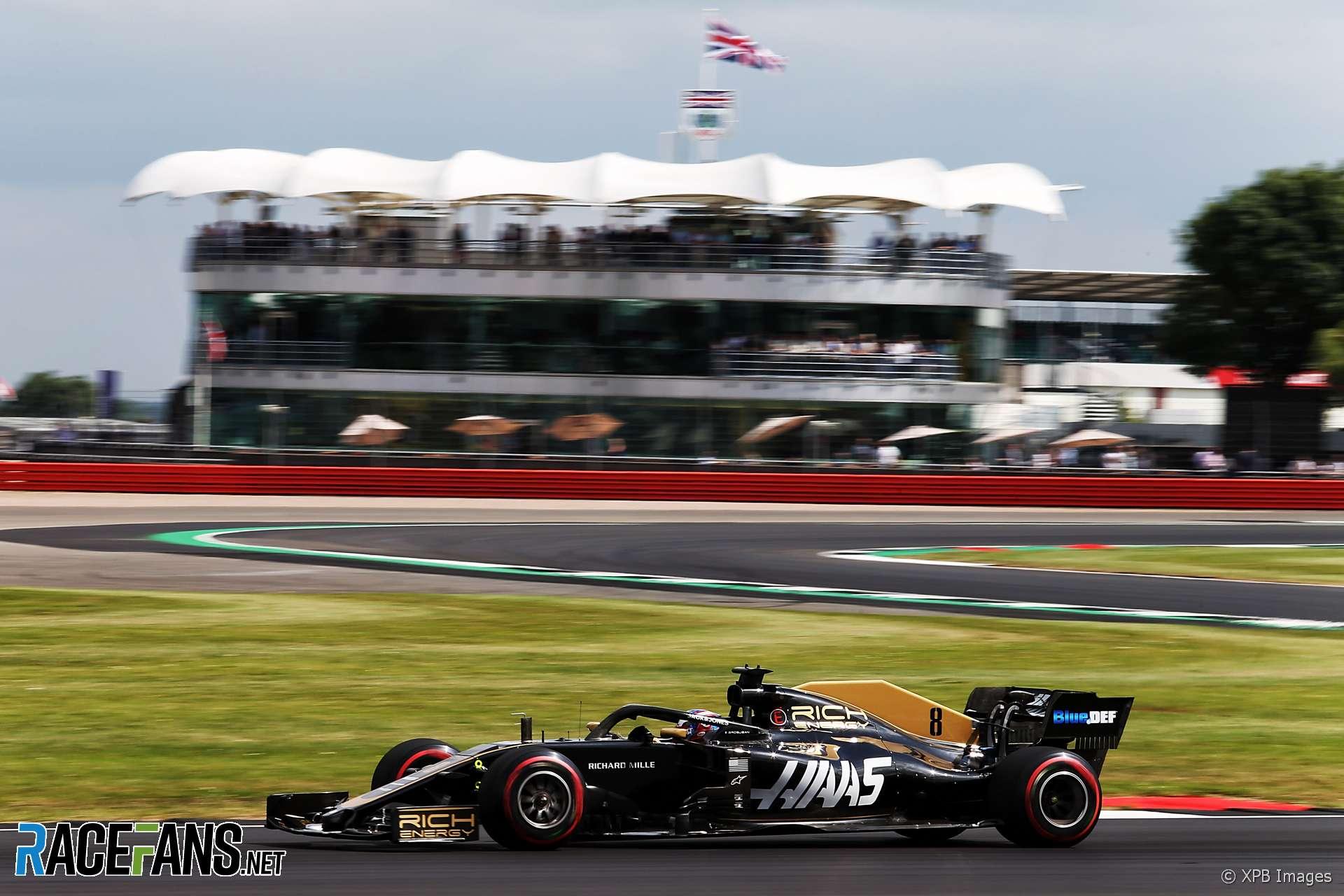 Romain Grosjean, Haas, Silverstone, 2019