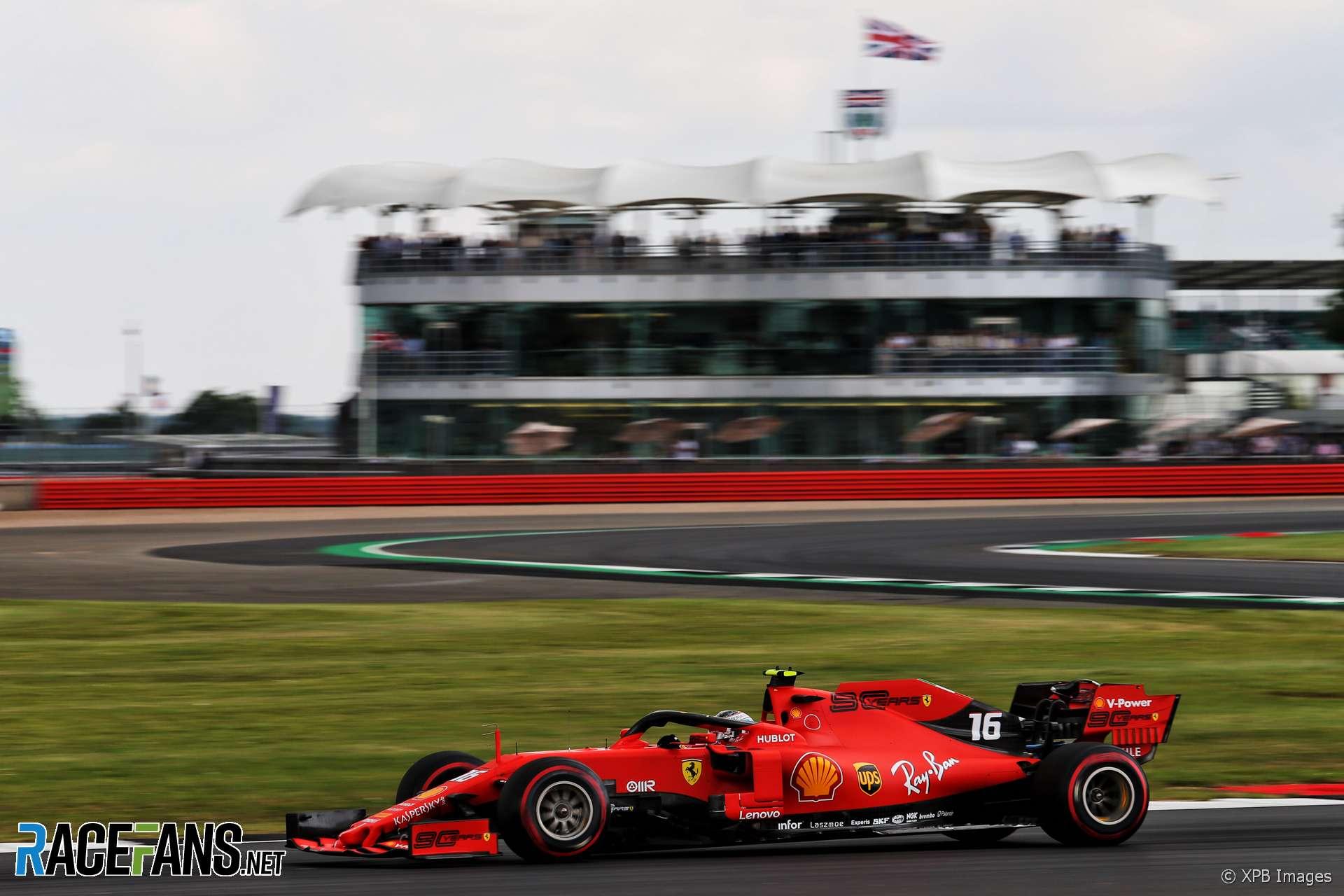 Charles Leclerc, Ferrari, Silverstone, 2019