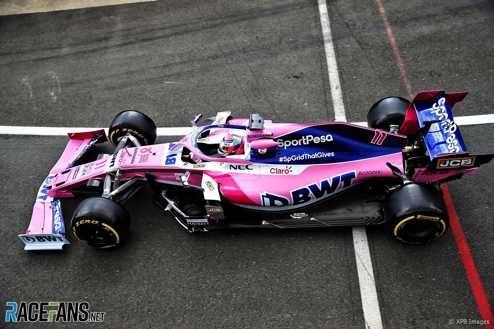 Sergio Perez, Racing Point, Silverstone, 2019