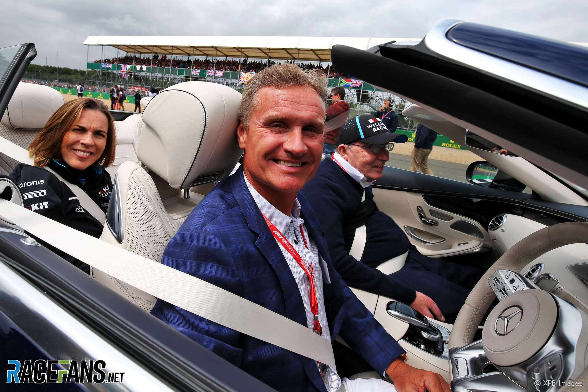 David Coulthard, Frank Williams, Claire Williams, Silverstone, 2019