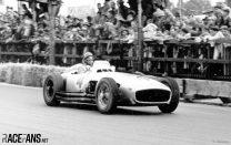 Juan Manuel Fangio driving the W 196 R at the 1954 Swiss GP