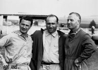 Herrmann, Fangio and Kling at the 1954 French Grand Prix