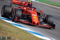 Leclerc keeps Ferrari ahead as Mercedes struggle