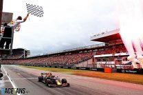 Verstappen spins and wins Mercedes' race