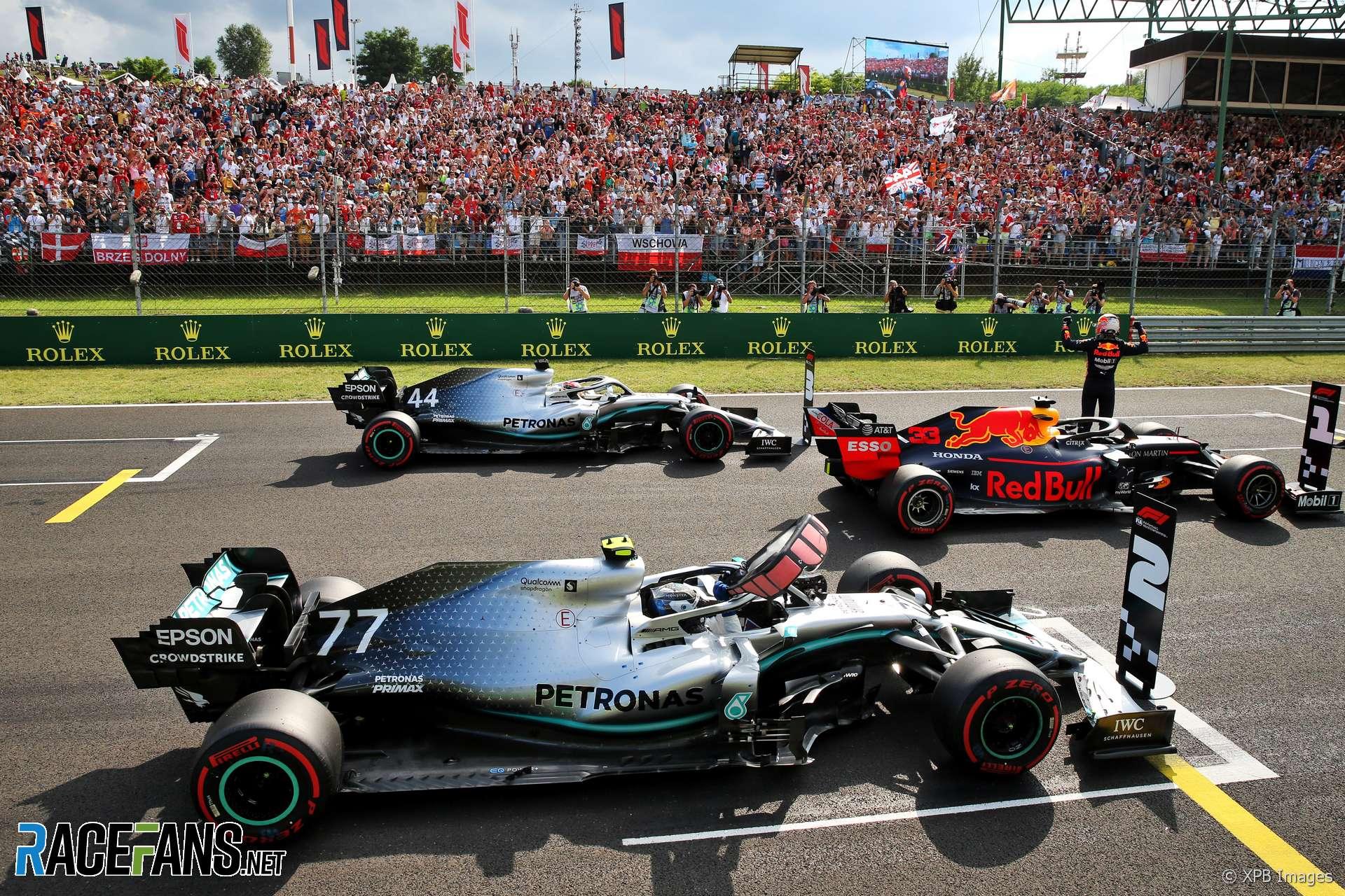 Max Verstappen, Lewis Hamilton, Valtteri Bottas, Hungaroring, 2019
