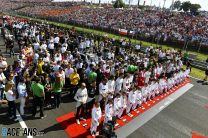 F1 and F3 to hold minutes of silence for Hubert