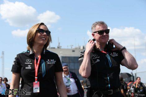 Claire Williams, Mike O'Driscoll, Williams, Hungaroring, 2019