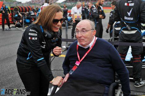 Claire Williams, Frank Williams, Silverstone, 2019