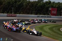 """I drove straight"": Sato responds after Rossi blames him for Pocono crash"