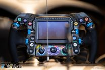 Mercedes steering wheel, Spa-Francorchamps, 2019