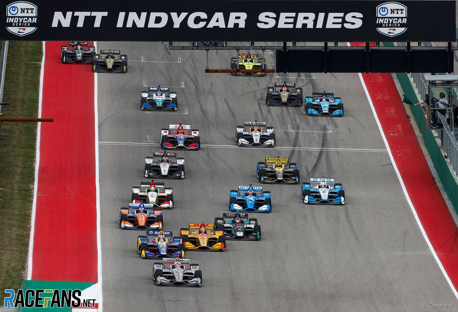 Start, IndyCar, Circuit of the Americas, 2019