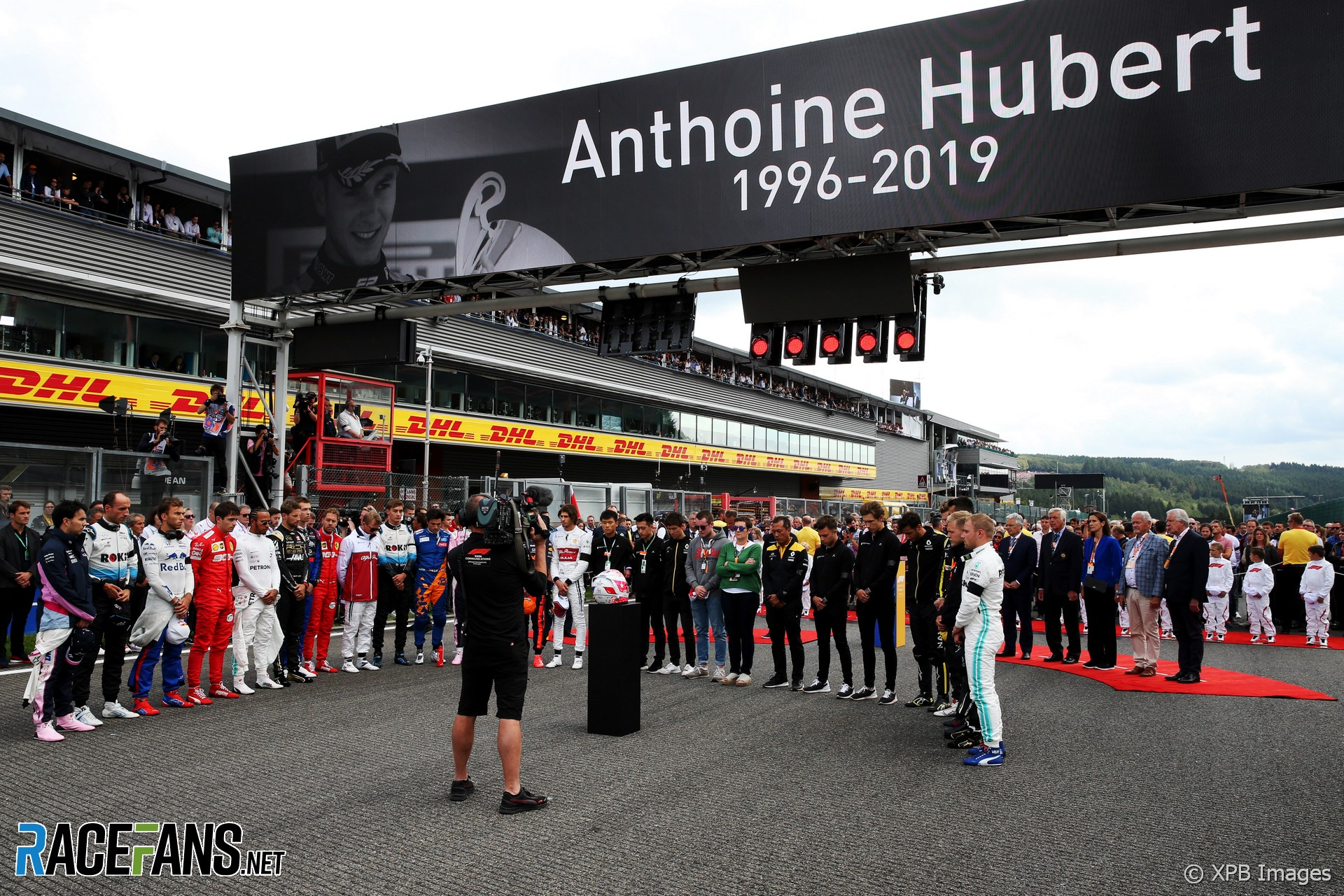 Minute's silence for Anthoine Hubert, Spa-Francorchamps, 2019