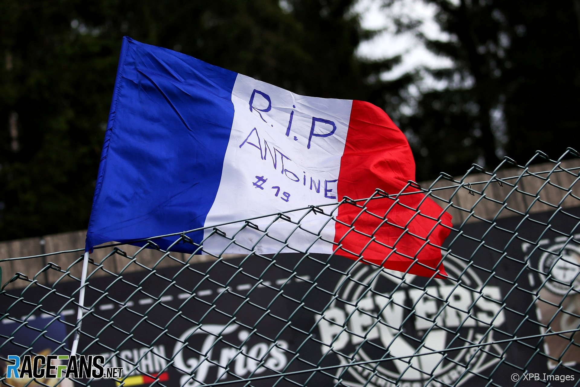 Fan's tribute to Anthoine Hubert, Spa-Francorchamps, 2019