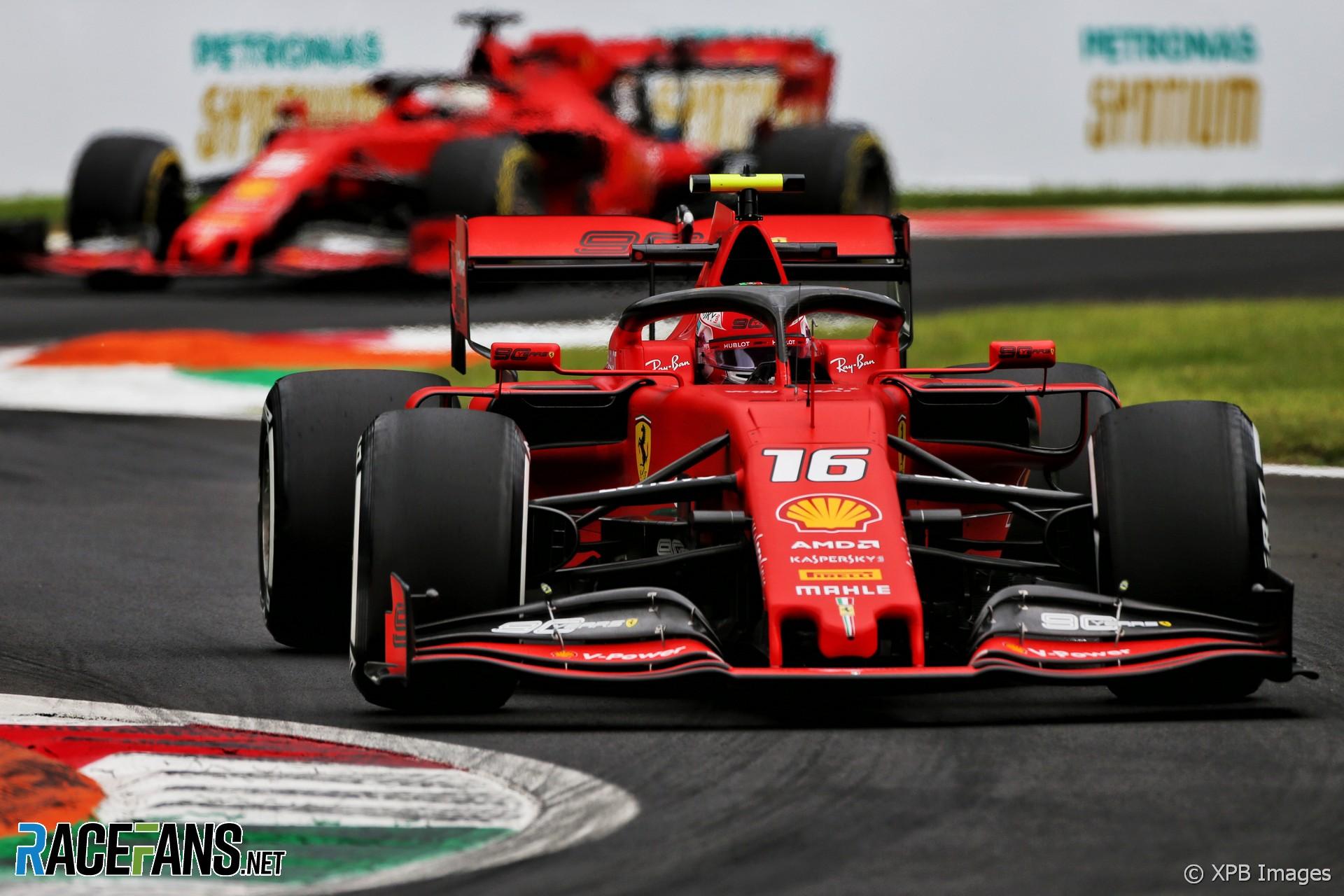 F1 Leclerc Doubts Ferrari Will Sacrifice A Car For Qualifying Tow Racefans