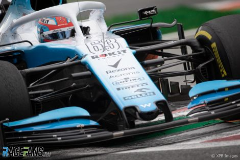George Russell, Williams, Monza, 2019