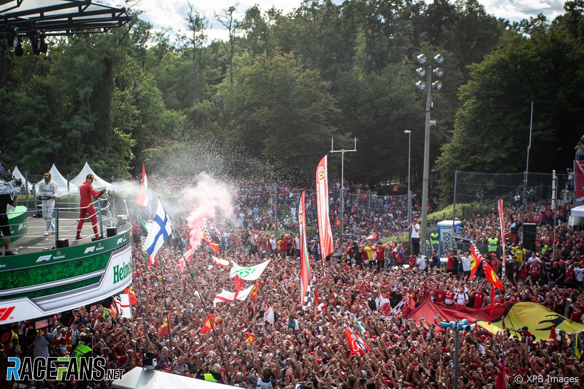 Charles Leclerc, Ferrari, Monza, 2019 · RaceFans