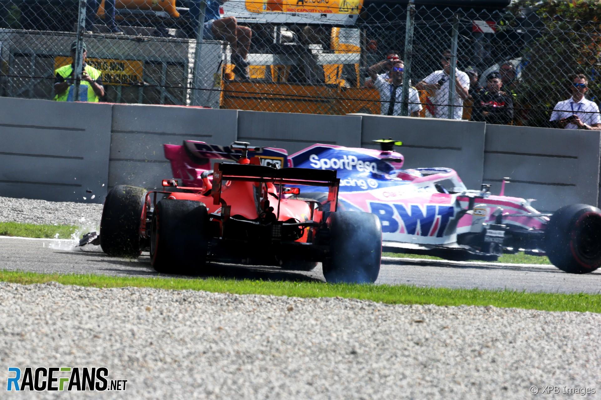 Sebastian Vettel, Lance Stroll, Monza, 2019
