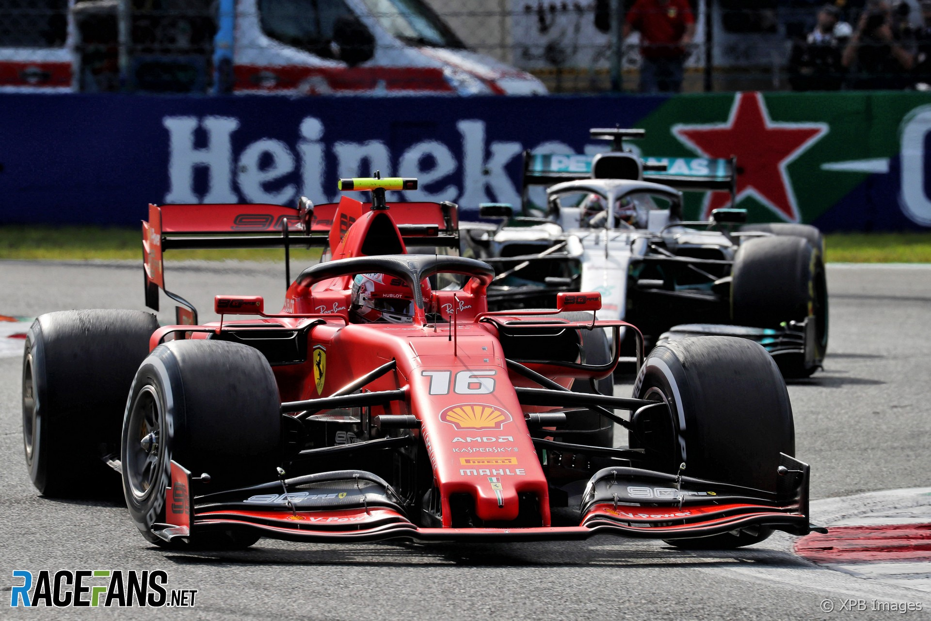 Charles Leclerc, Lewis Hamilton, Monza, 2019