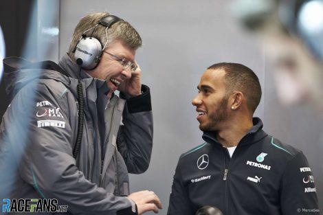 Ross Brawn, Lewis Hamilton, Mercedes, 2013