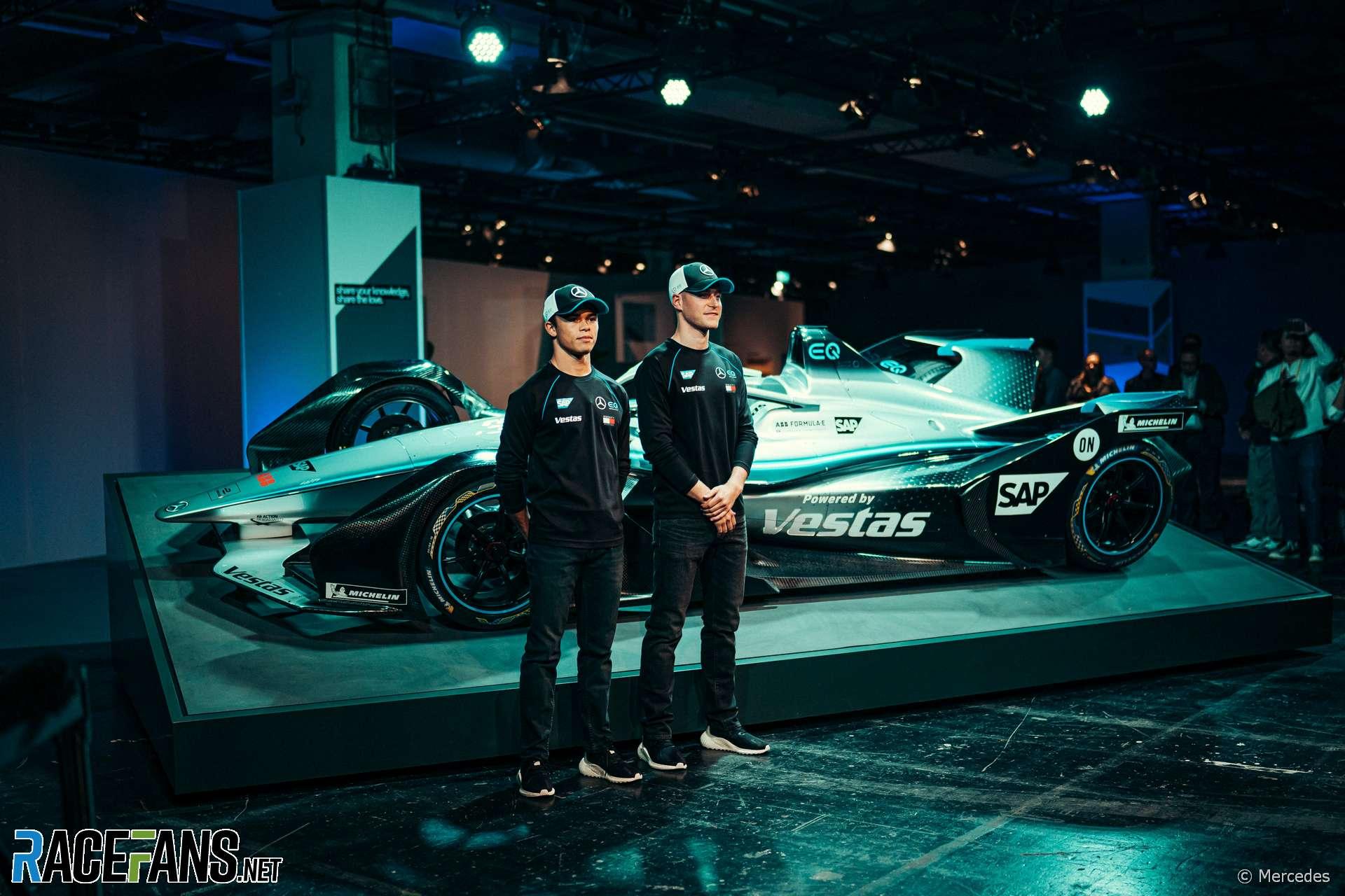 Nyck de Vries, Stoffel Vandoorne, Mercedes Formula E launch, 2019