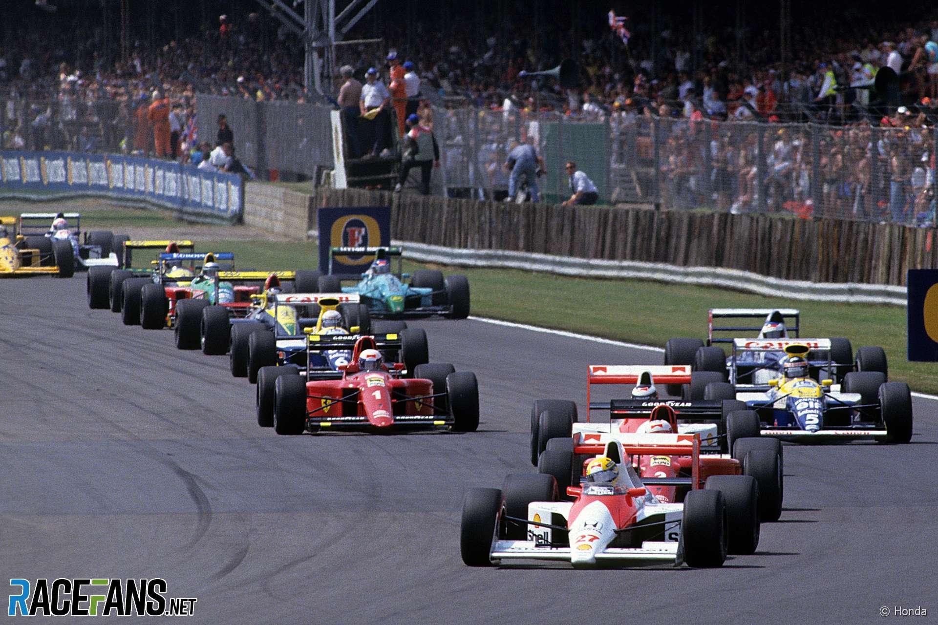 Start, Silverstone, 1990