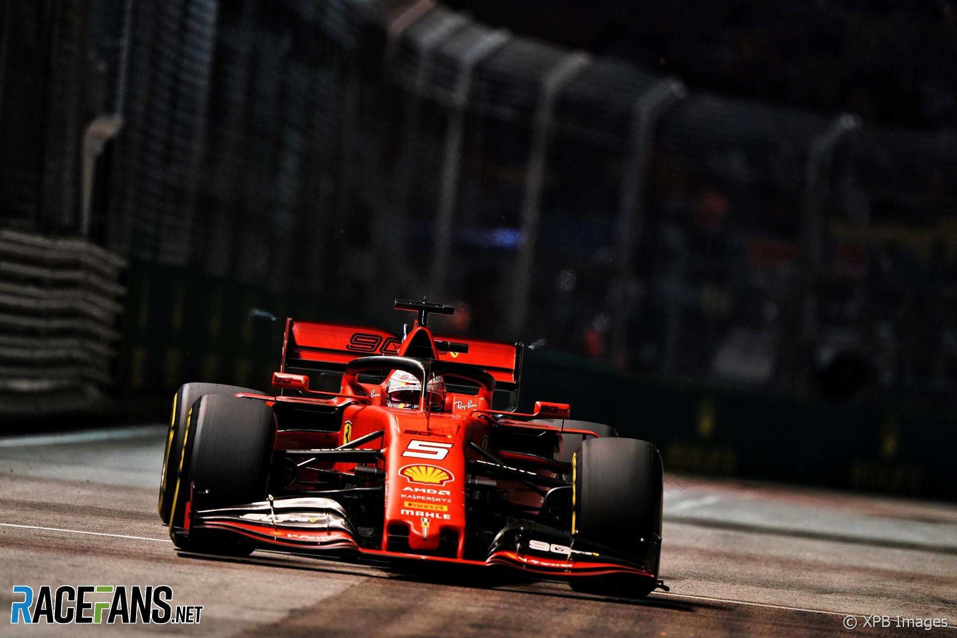 Sebastian Vettel, Ferrari, Singapore, 2019