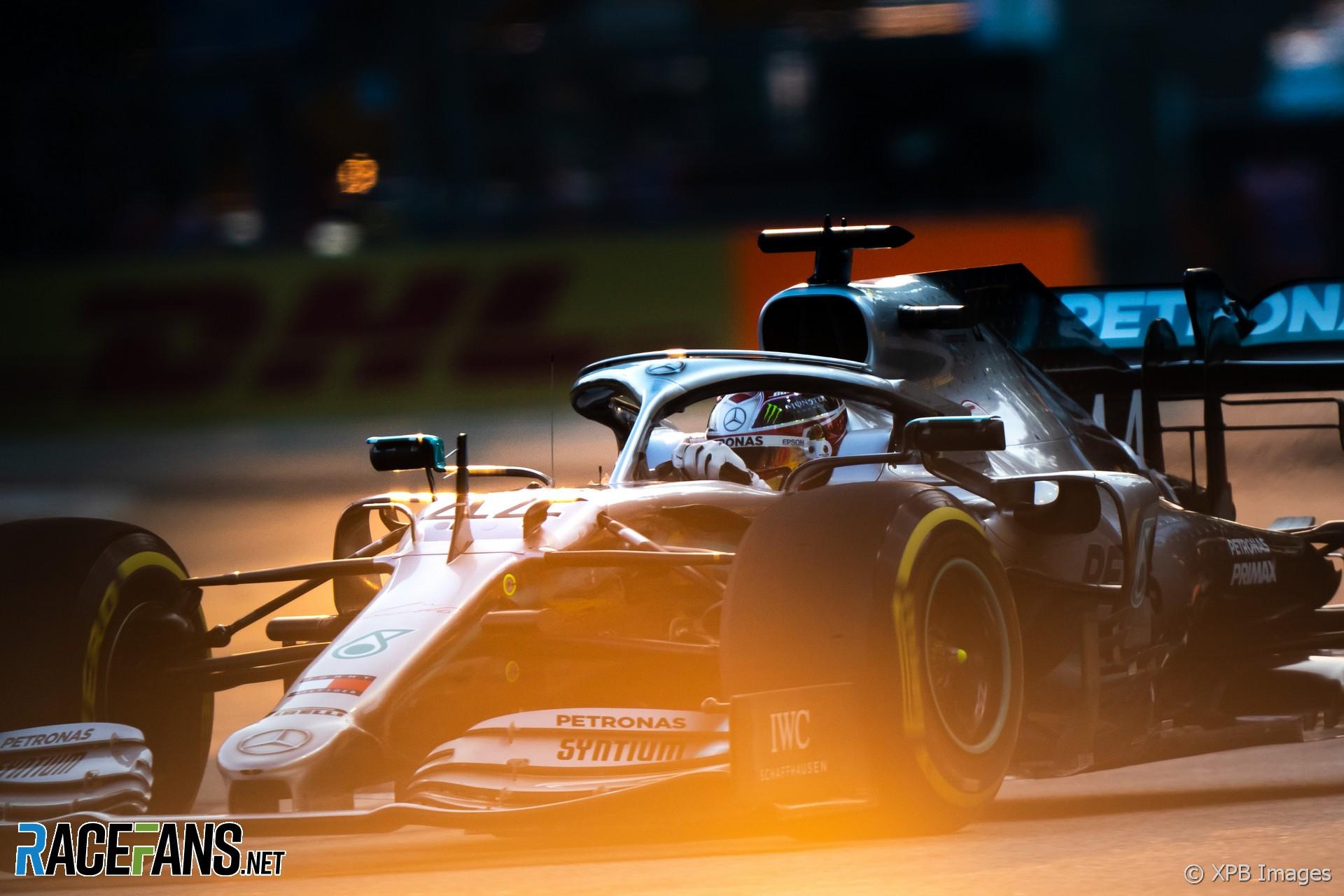 Lewis Hamilton, Mercedes, Singapore, 2019