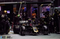 Plastic bag forced Magnussen to make extra pit stop