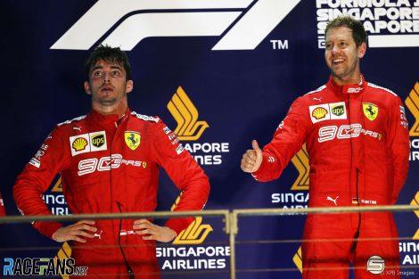 Charles Leclerc, Ferrari, Singapore, 2019