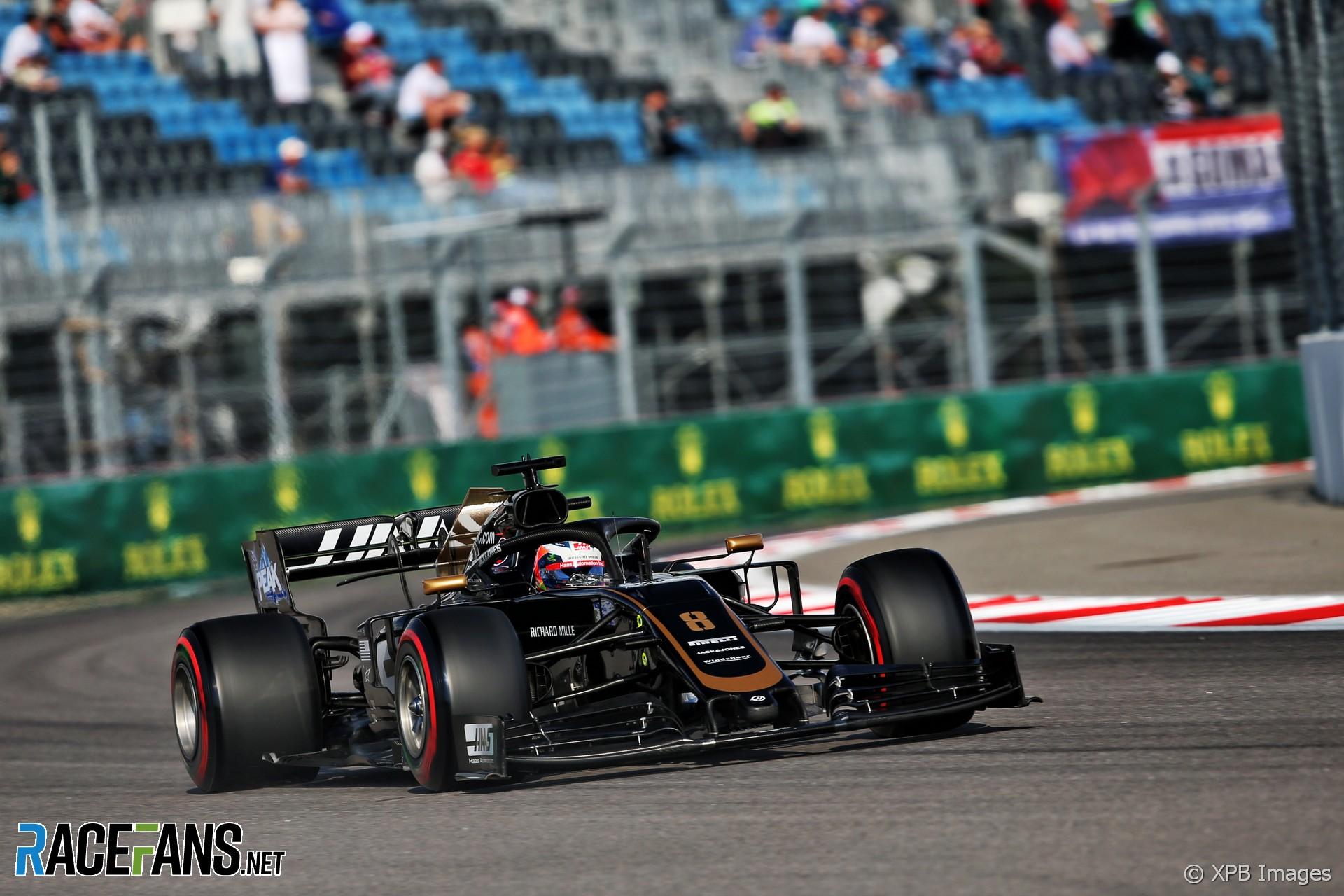 Romain Grosjean, Haas, Sochi Autodrom, 2019