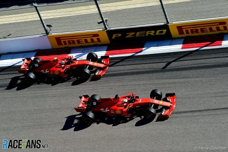 Sebastian Vettel, Charles Leclerc, Ferrari, Sochi Autodrom, 2019