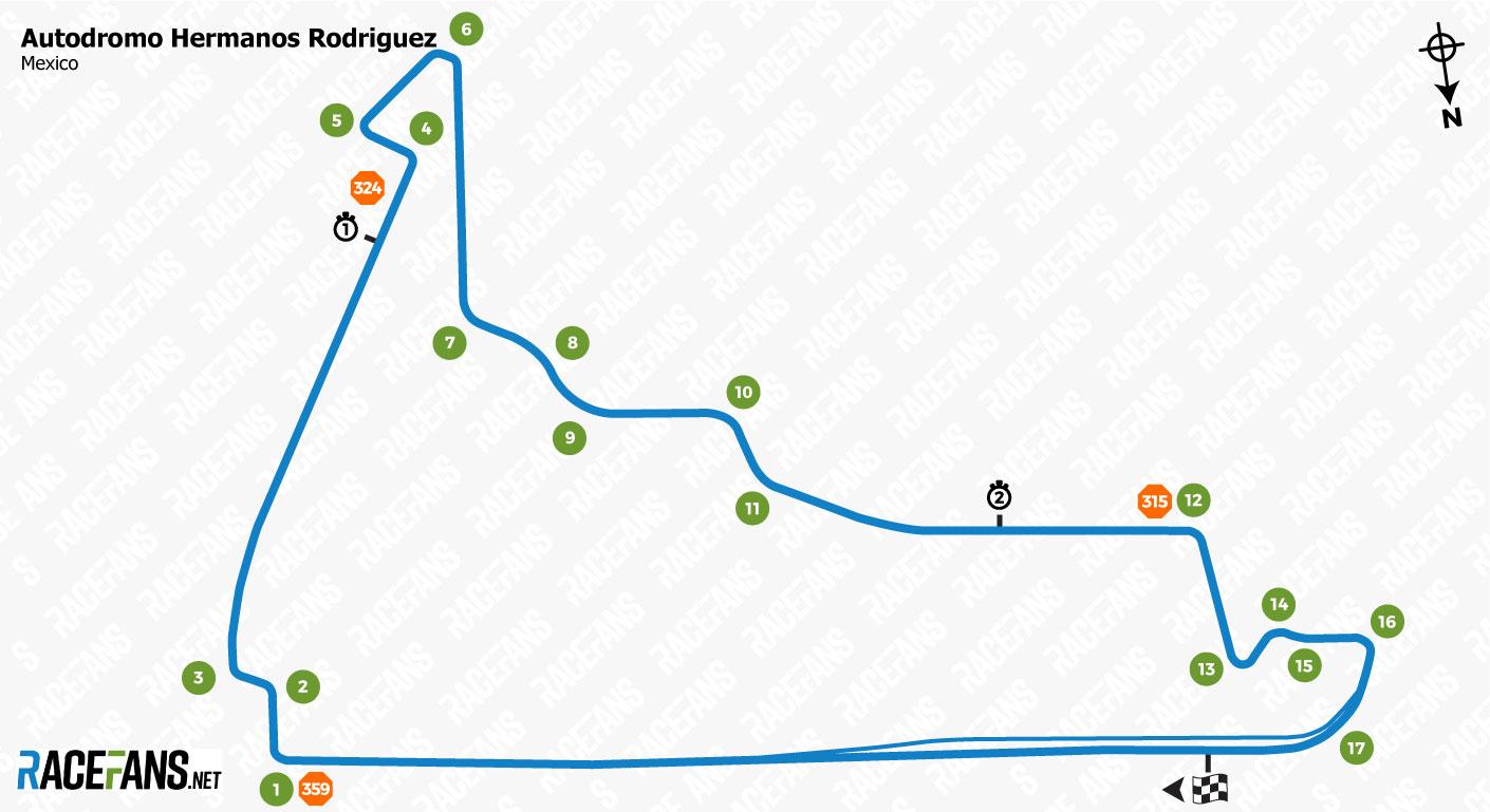 Autodromo Hermanos Rodriguez track map
