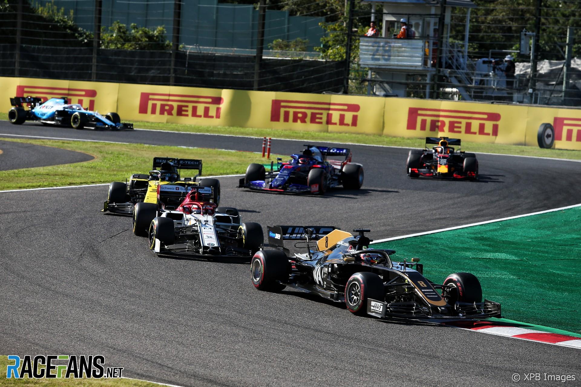 Romain Grosjean, Haas, Suzuka, 2019