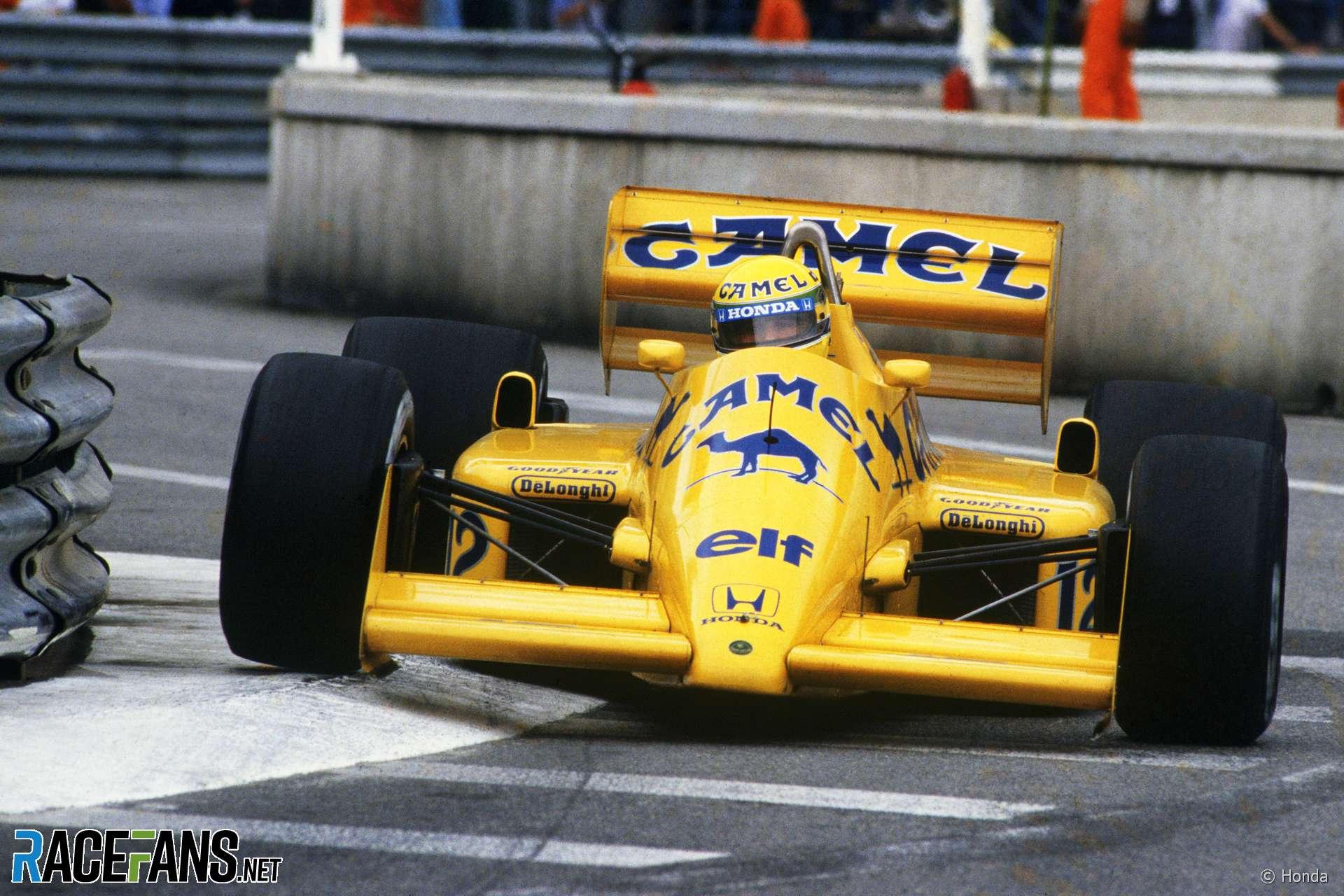 Ayrton Senna, Lotus, Monaco, 1987