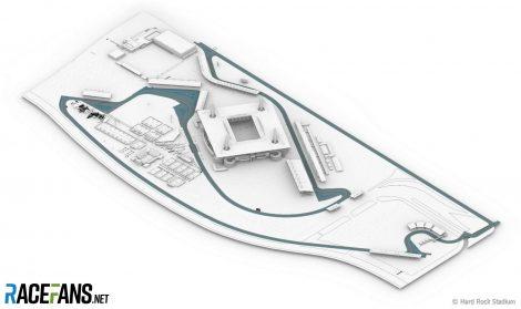 Planned Hard Rock Stadium F1 circuit for 2021 Miami Grand Prix