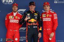 Verstappen claims pole as Bottas crashes on last lap