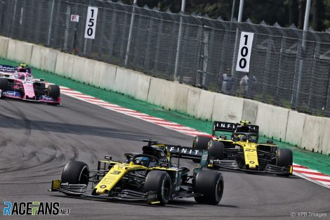 Daniel Ricciardo, Nico Hulkenberg, Autodromo Hermanos Rodriguez, 2019