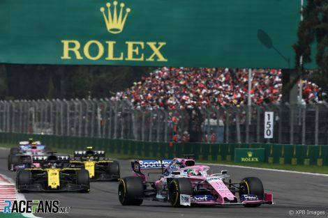 Sergio Perez, Racing Point, Autodromo Hermanos Rodriguez, 2019