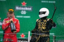 Vettel has gone a full year without a podium finish