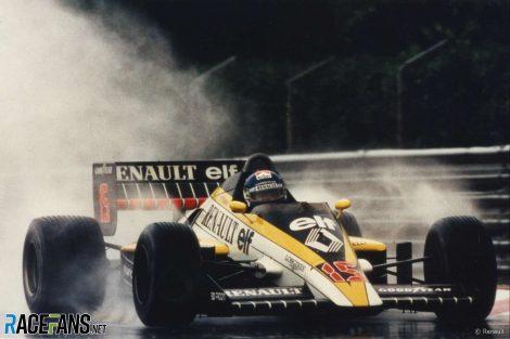 Patrick Tambay, Renault, Estoril,1985