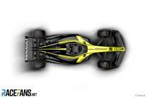 Renault 2021 F1 car rendering