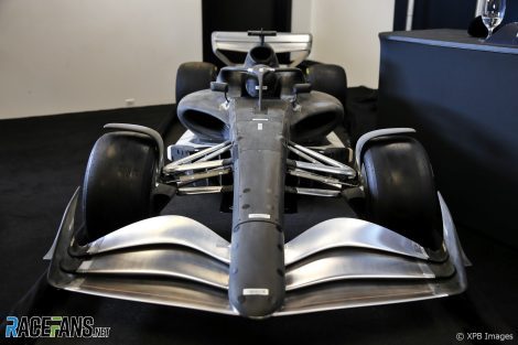 2021 F1 car wind tunnel model