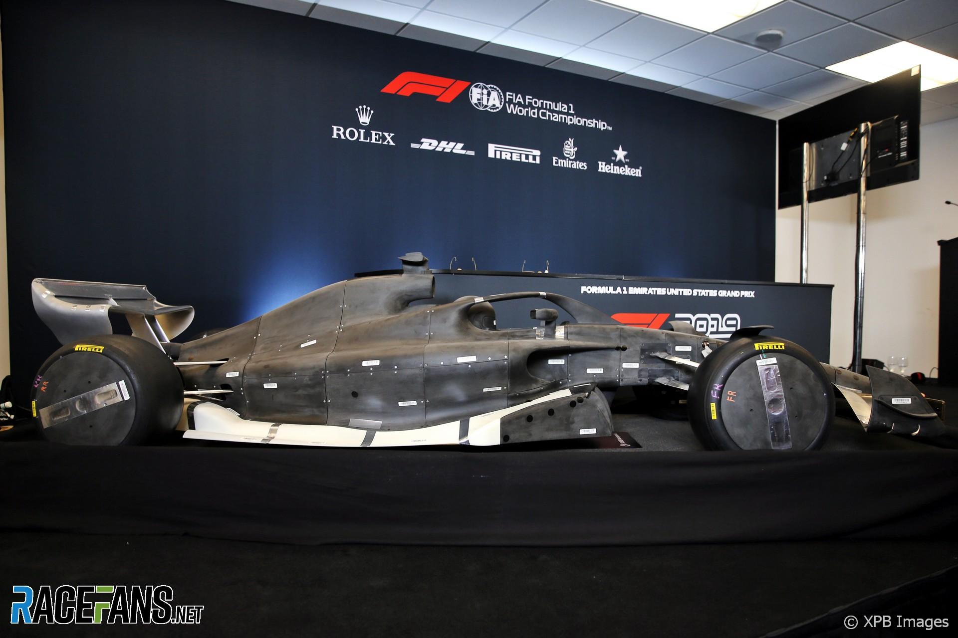 2021 F1 car wind tunnel model