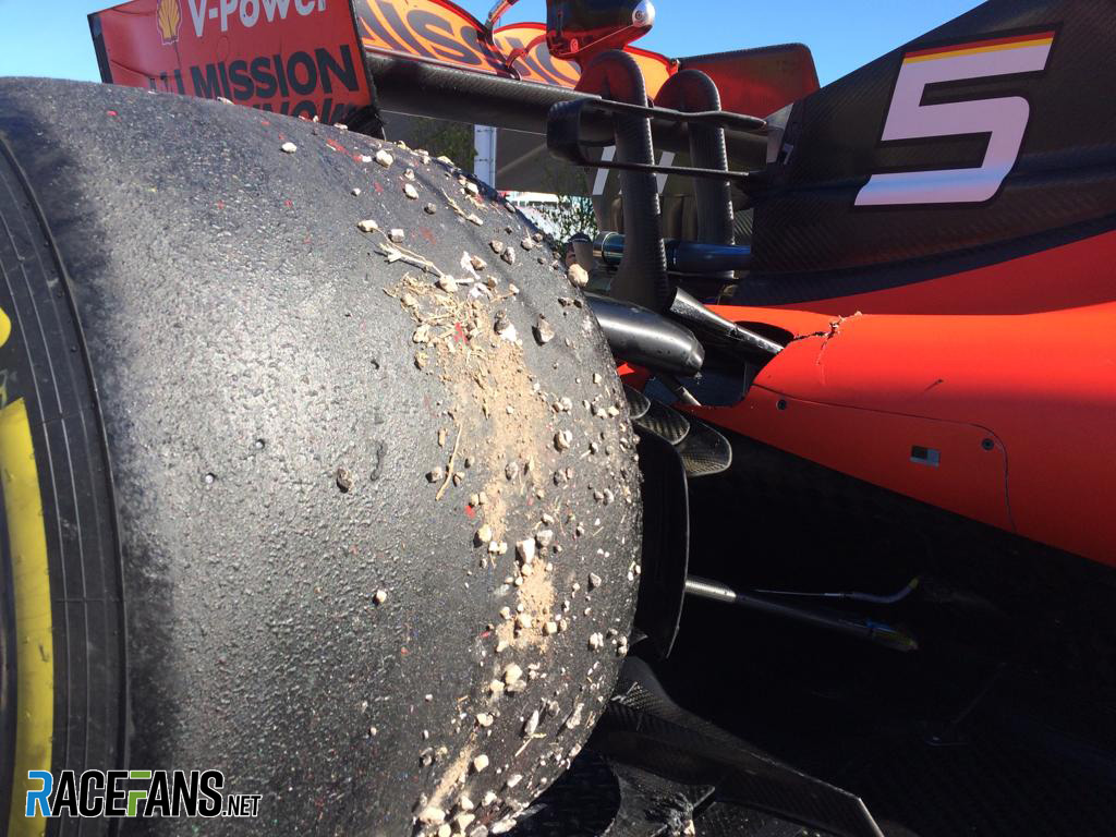 Vettel doubts new kerb caused suspension failure